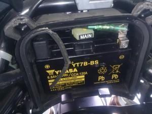 シグナスX バッテリー交換
