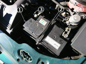 ジャガー Xタイプ バッテリー交換