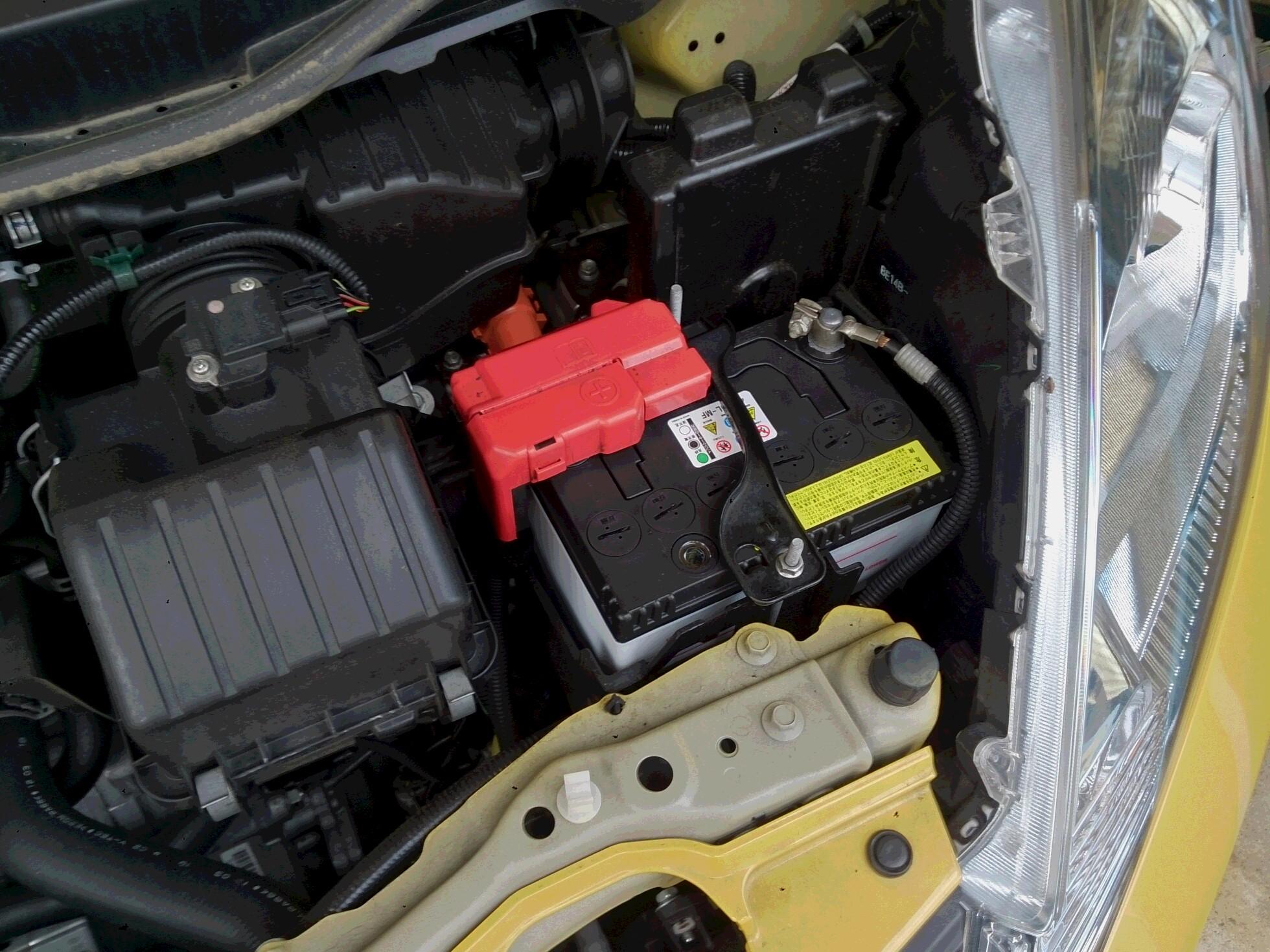 フィットハイブリッド battery