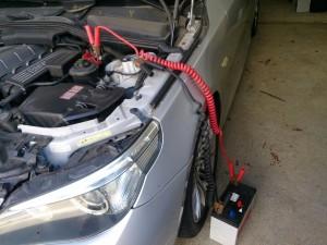 BMW E60 バッテリー 交換
