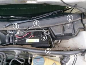 パサート B5 バッテリー交換