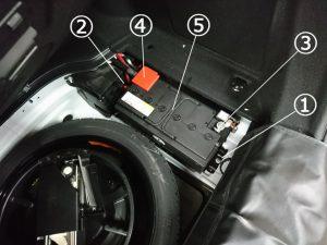 AMG C63 バッテリー交換