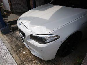 BMW 523d F10 バッテリー交換