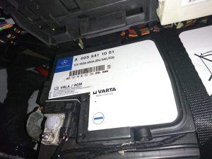 ベンツ W222 S400h バックアップバッテリー 交換 バッテリー