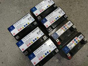 ベンツ W212 バックアップバッテリー 故障 交換 サブバッテリー