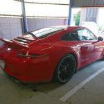 ポルシェ 911 991 カレラ バッテリー交換 AGM バッテリー